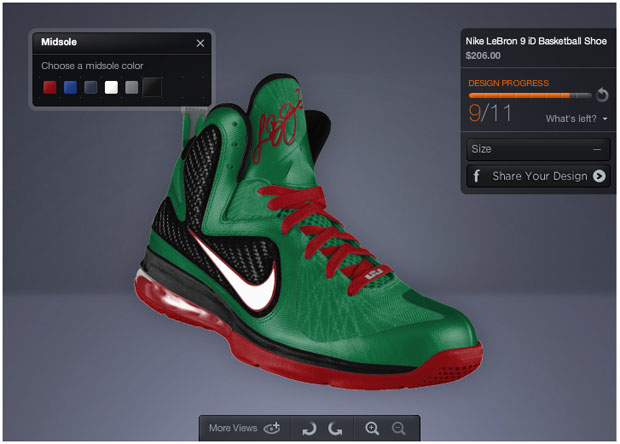 LeBron 9 Shoe Builder & Create Your Own