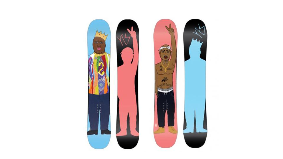 Biggie and Tupac Snowboards
