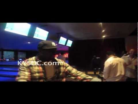 50 Cent Bowling While Wearing MMG Gunplay's Chain