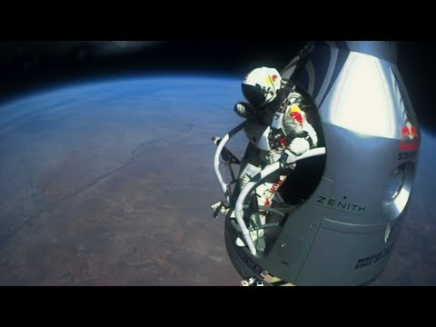 Stunt Man Jumps From Out Of Space To Earth