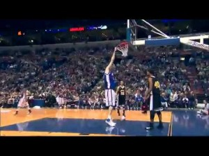 World&#8217;s Tallest Basketball Player Dunks Without Jumping