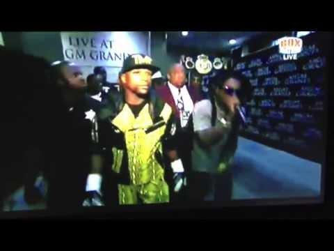 Lil Wayne Walks Floyd Mayweather Jr. Into His Fight