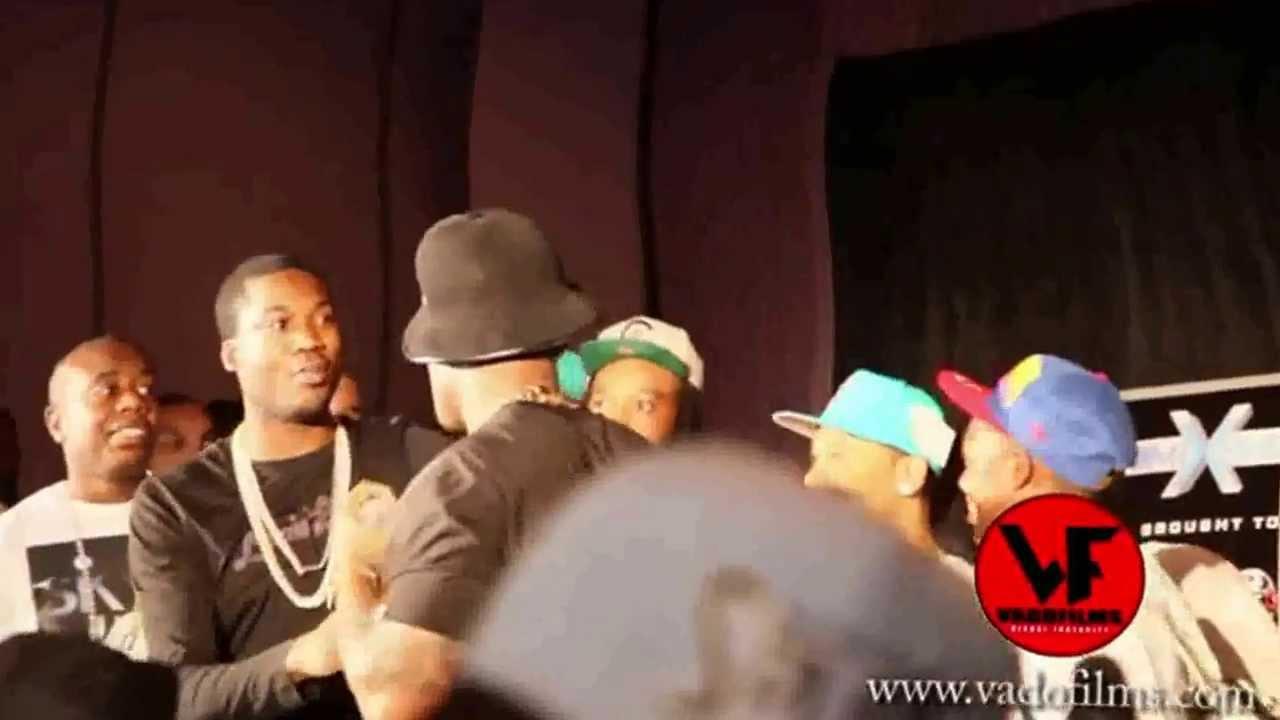 Meek Mill Breaks Up Near Brawl Between 50 Cent & Trav