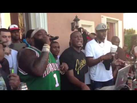 Rick Ross Performs From His House