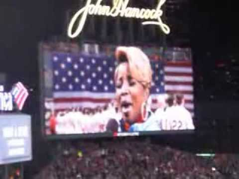 Mary J Blige Sings The National Anthem At The World Series