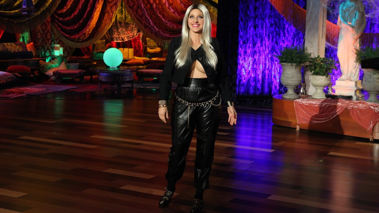 Ellen Degeneres Dresses As Nicki Minaj For Halloween