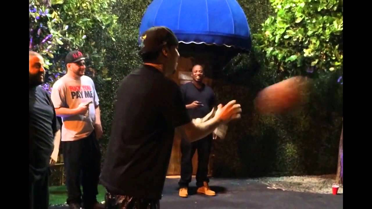 DJ Khaled & French Montana Battle It Out On The Court