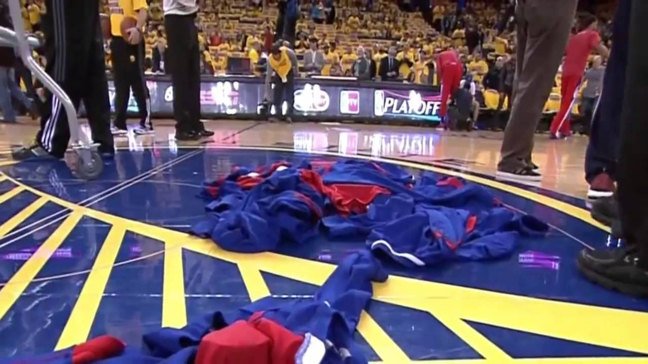 Clippers Take Stand And Turn Their Warm-Up Gear Inside Out To Hide Clippers Logo
