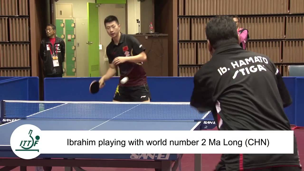 Man With No Hands Plays Ping Pong By Holding Paddle In His Mouth