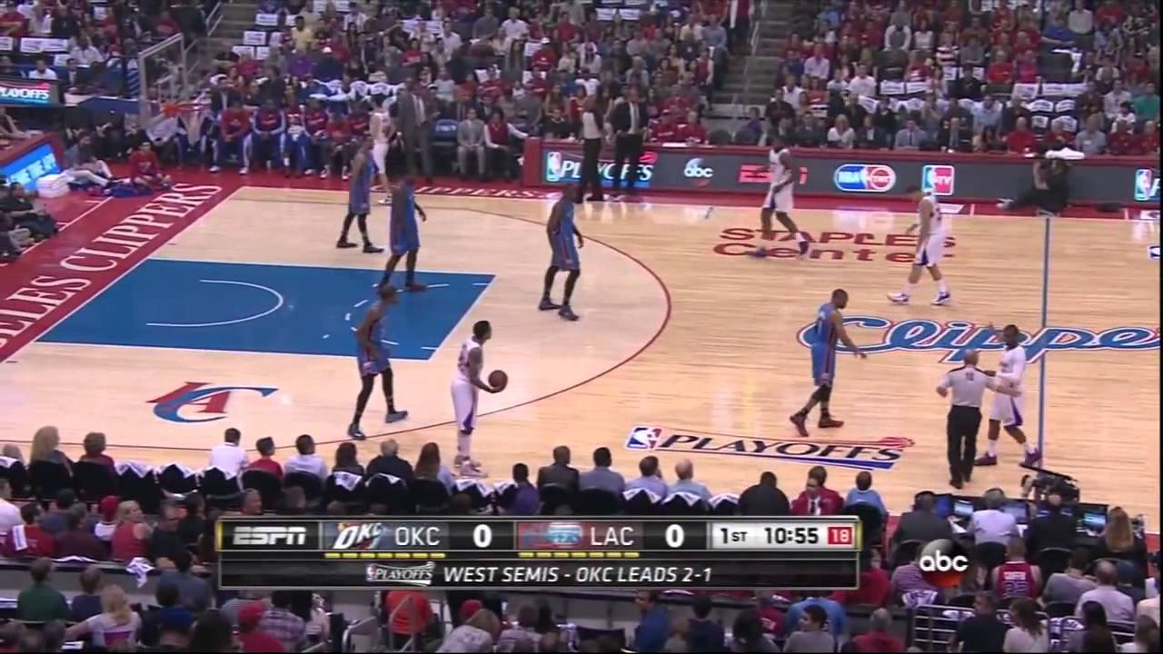 Serge Ibaka Punches Blake Griffin In The Nuts During Game 4 Of The Playoffs