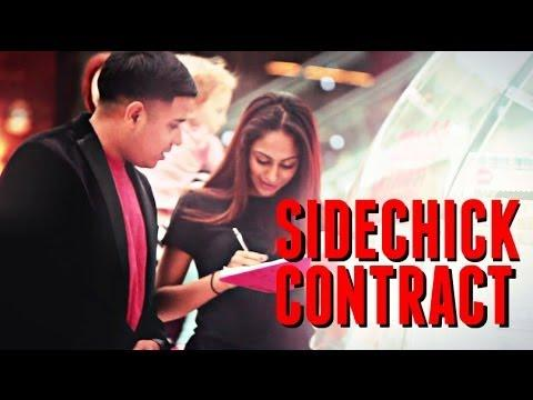 Dude Picks Up Girls With Sidechick' Contract