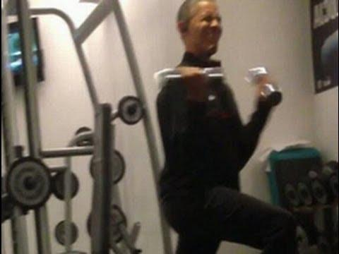 Someone Secretly Recorded President Obama Working Out