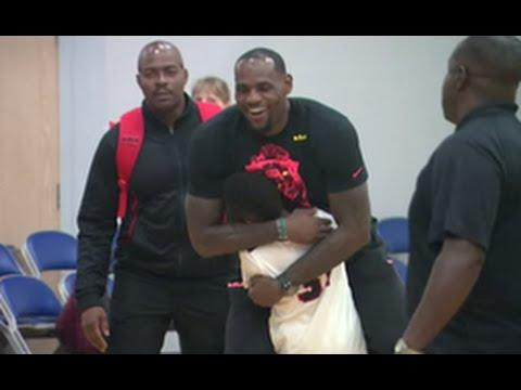 Lebron James At His Sons Fourth Grade National Championship Game