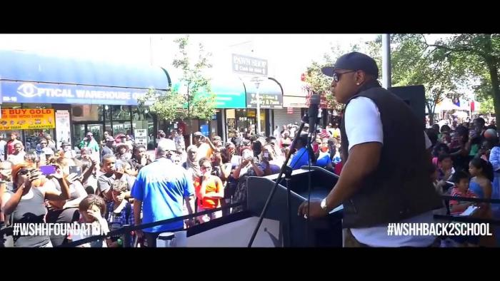 LL Cool J Gives A Powerful Speech To The Kids At WSHH's Back 2 School Charity Event In Queens