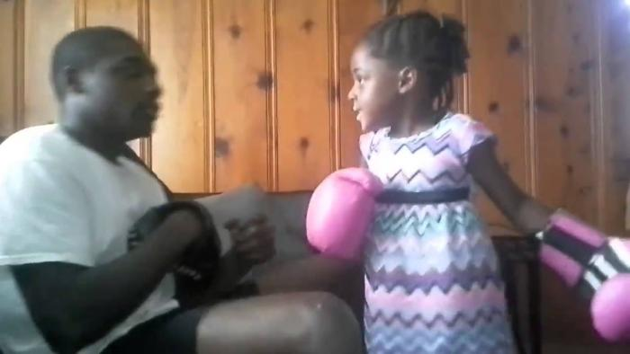 5 Year Old Girl Got Them Boxing Skills