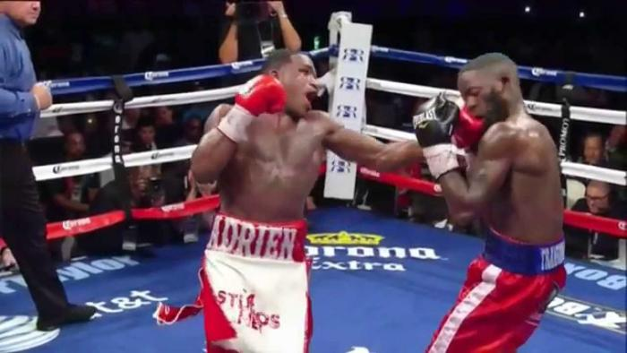 Adrien Broner Knocks Down Emmanuel Taylor In The 12th Round