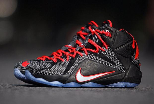 Nike LeBron 12 – Black/Bright Crimson/White