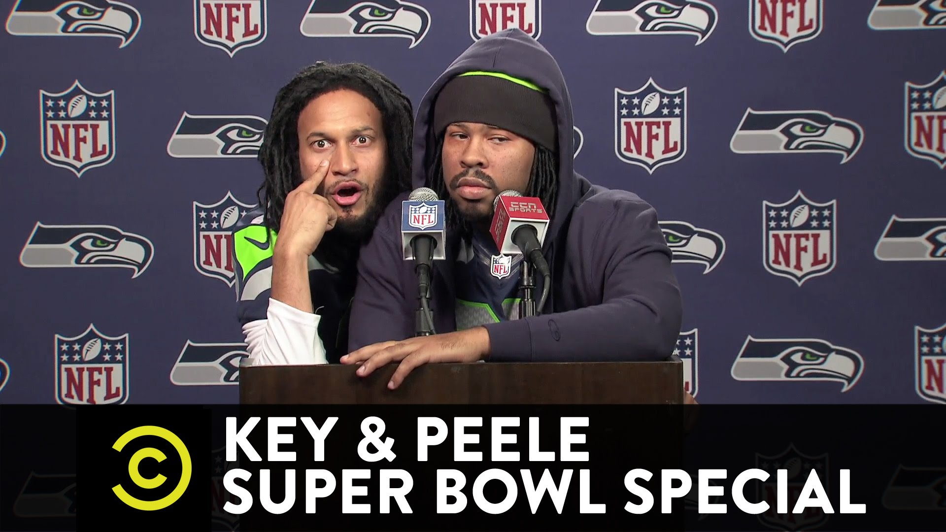Key & Peele: Marshawn Lynch and Richard Sherman's Joint Press Conference
