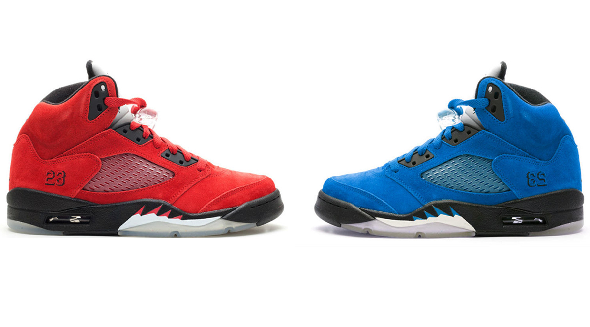 Air Jordan 5 Retro Suede Red / Blue Pack