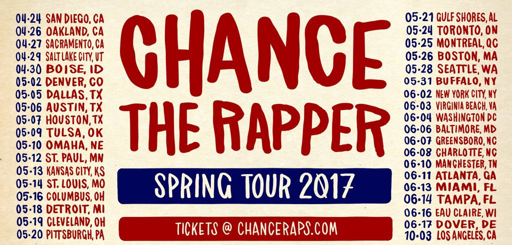 Chance The Rapper Announces Spring Tour Dates
