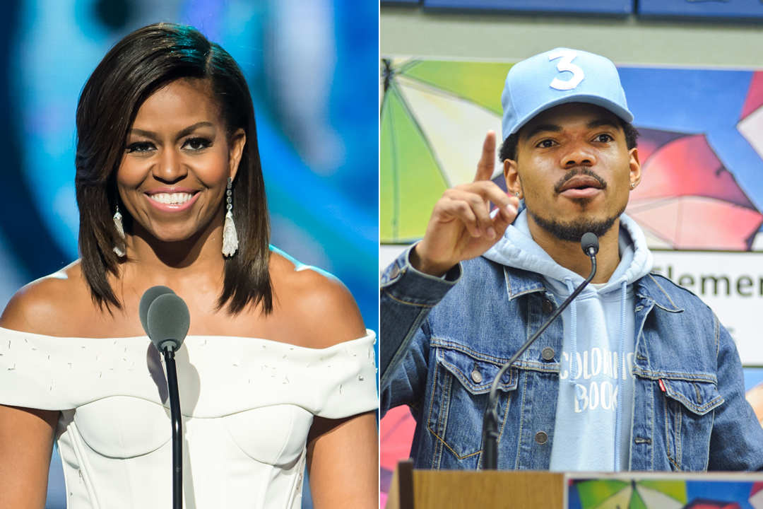 Michelle Obama Praises Chance The Rapper for $1 Million Donation to Chicago Schools