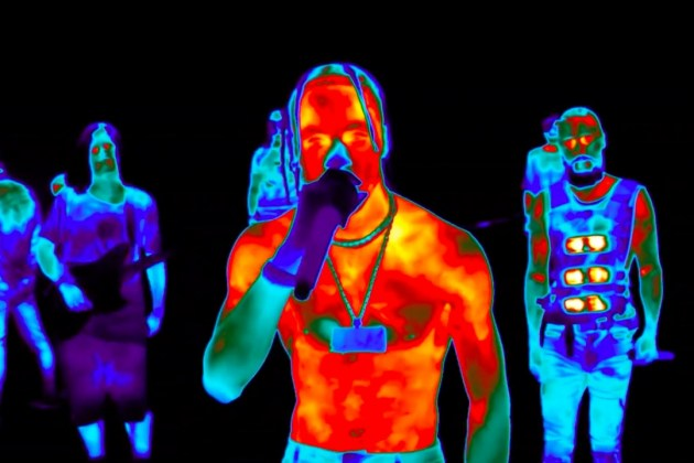 "Travis Scott Performs ""Butterfly Effect,"" ""Walk on Water"" Mashup With Thirty Seconds to Mars at 2017 MTV Video Music Awards"