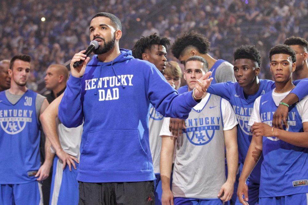 Drake Returns to Kentucky Wildcats's Big Blue Madness Event