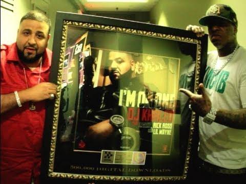 """DJ Khaled Awarded Gold Plaque For """"Im On One"""" 500K Digital"""