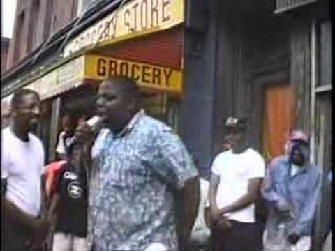 Notorious BIG Freestyle On A Brooklyn Street Corner