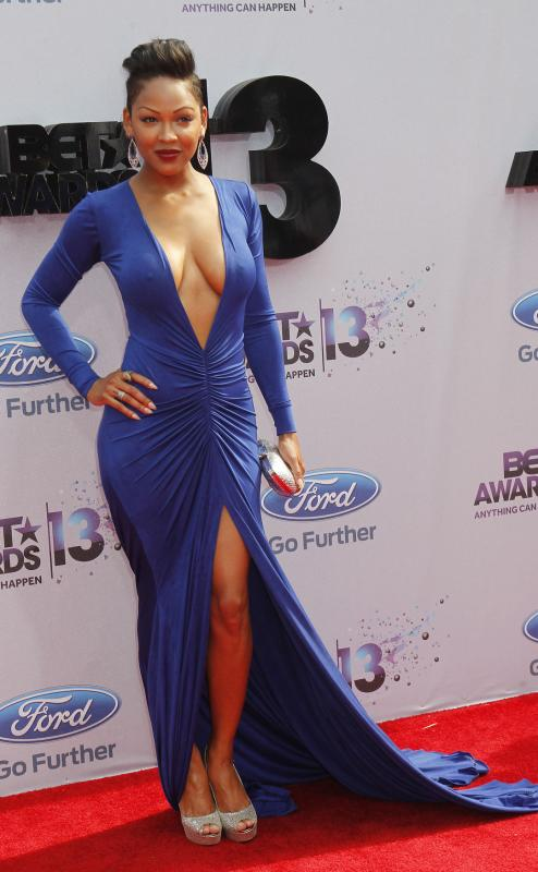 First Lady Megan Good Shows Her Goods At The 2013 BET AWARDS