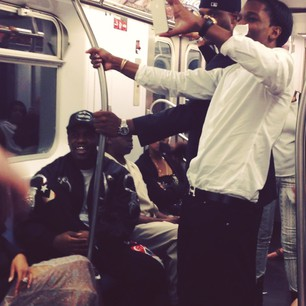 A$AP Rocky Takes The Subway Home From The MTV VMAs