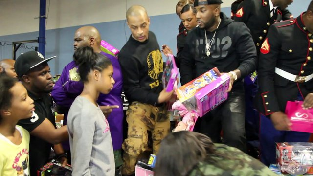 T.I. & Jeezy Hold Toy Drive In Atlanta