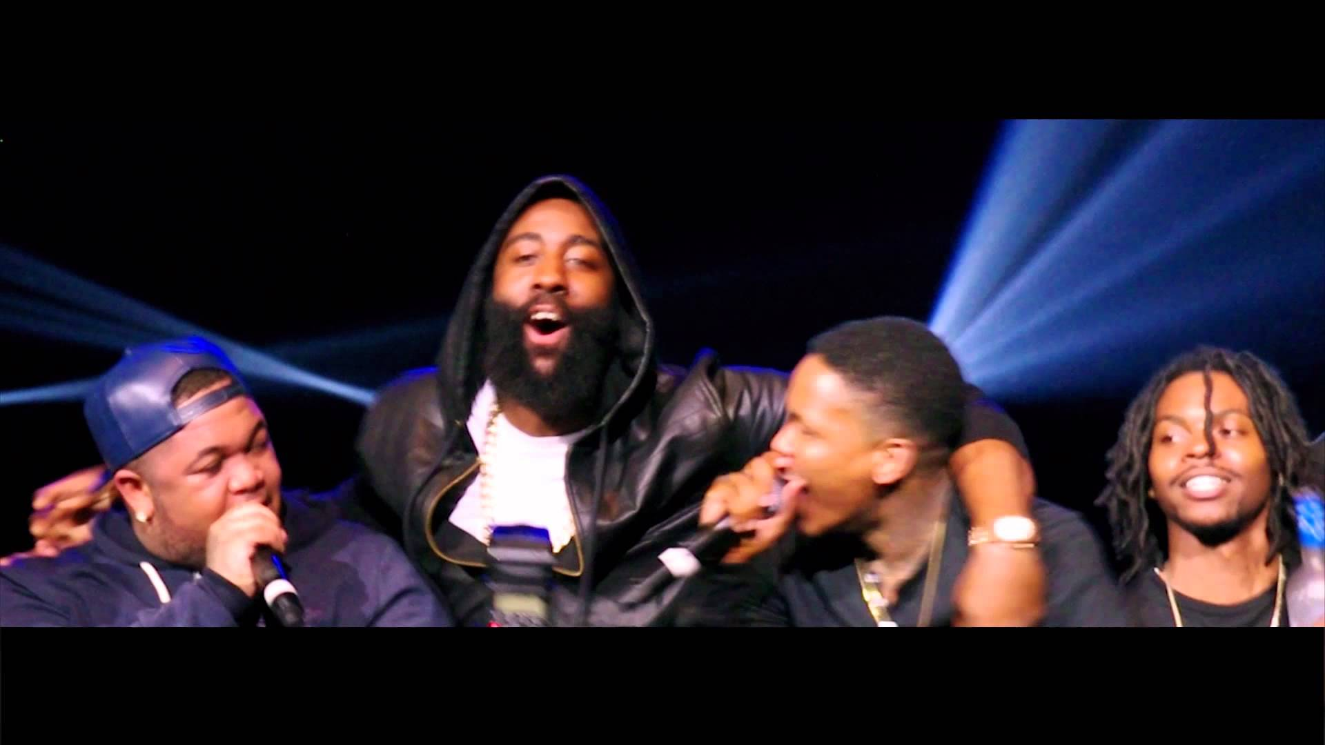 James Harden Hits The Stage With YG In Phoenix
