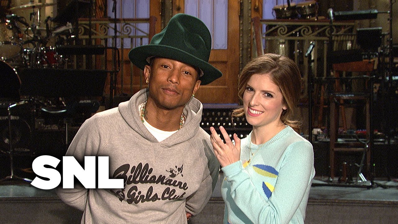 Pharrell Appears In SNL Promo With Anna Kendrick