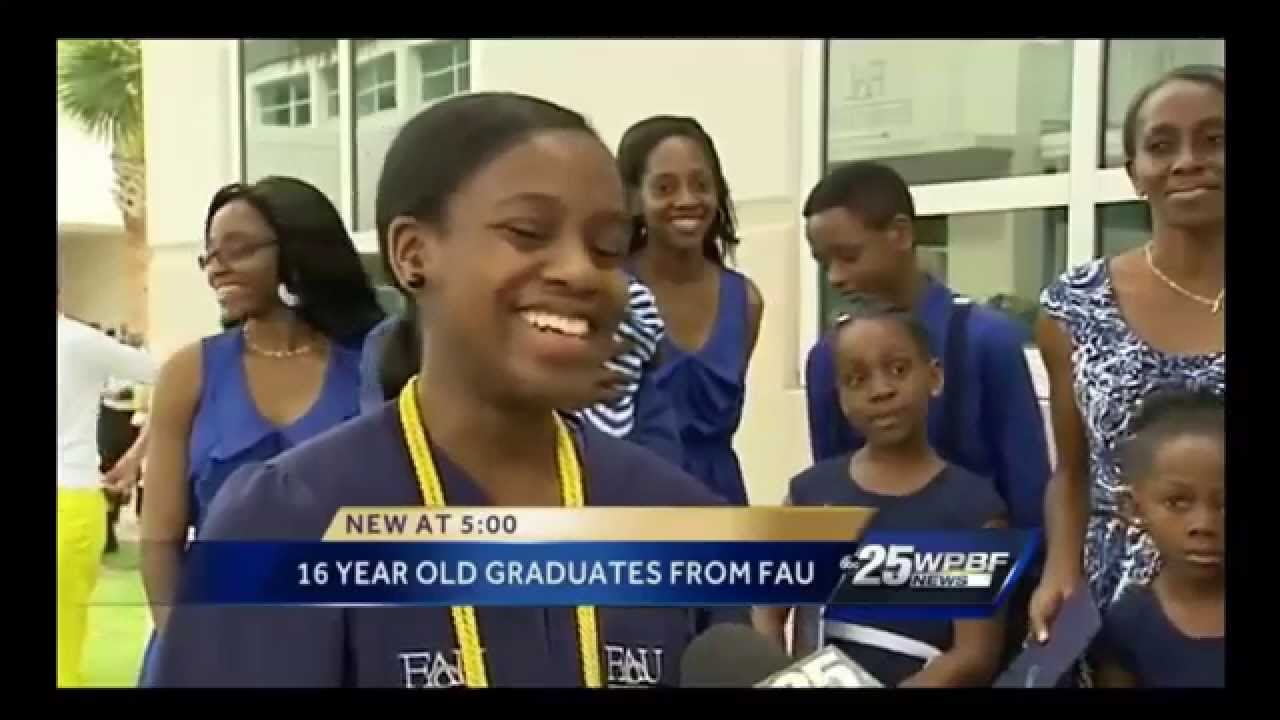 16 Year Old Graduates From College & High School At The Same Time