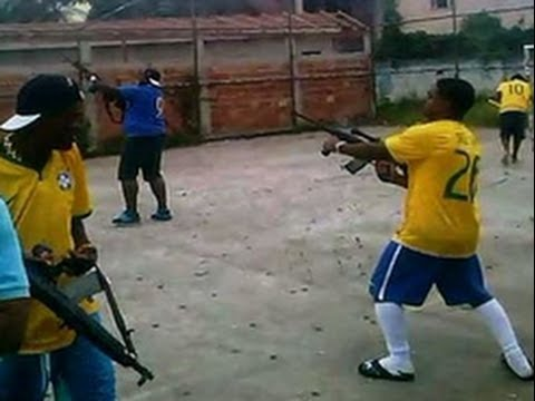 Brazilian Soccer Fans Celebrate Goal By Firing Ak-47's Into The Air