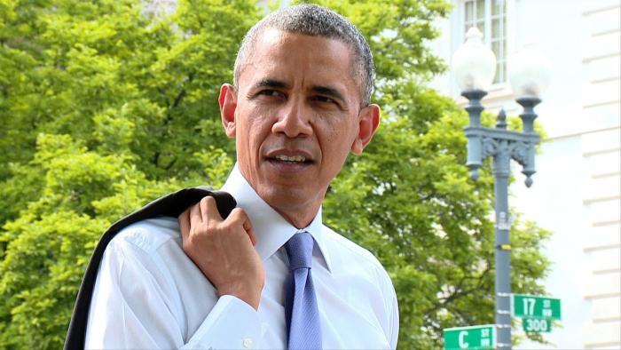 President Obama Takes A Surprise Walk Through D.C.