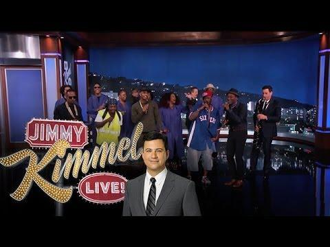 The Amazing Jam Session Guys Show Up On Jimmy Kimmel With Trey Songz, Juicy J & Aloe Blacc