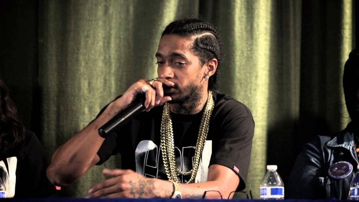 Nipsey Hussle Takes Part In Trayvon Martin Crenshaw Rally