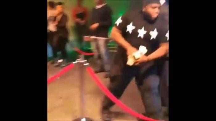 Drake Rushes Into Stadium & Pushes Security Away