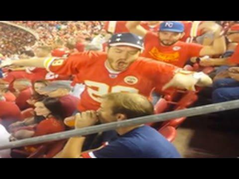 Kansas City Chiefs Fan Disrespecting Patriots Fan & Chants USA For No Reason