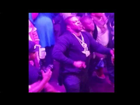 Busta Rhymes Falls Of Stage During Performance
