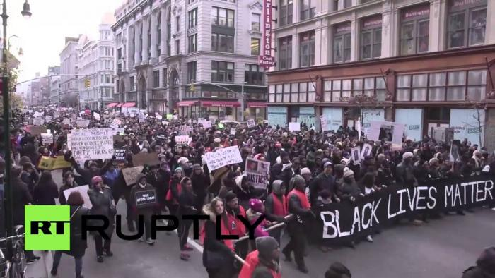 "Thousands Come Out To Protest Racial Injustice ""Millions March NYC"""