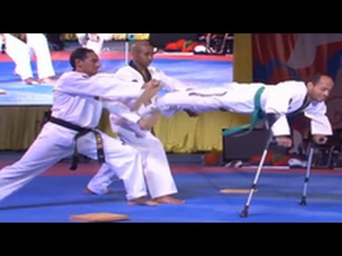 Disabled Men Show Off Their Karate Skills