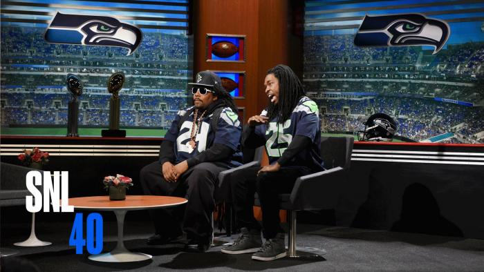 Marshawn Lynch & Richard Sherman (Saturday Night Live Skit)