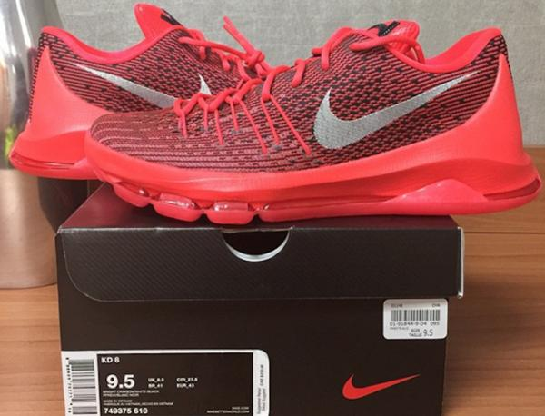 "Nike KD 8 ""Bright Crimson"" First Look"