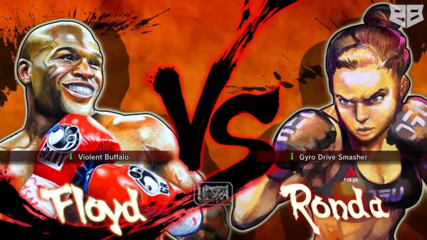 Watch Ronda Rousey vs. Floyd Mayweather in Street Fighter 4
