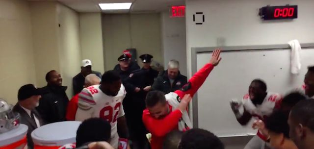 Urban-Meyer-Dab-Michigan-Ohio-State-Locker-Room