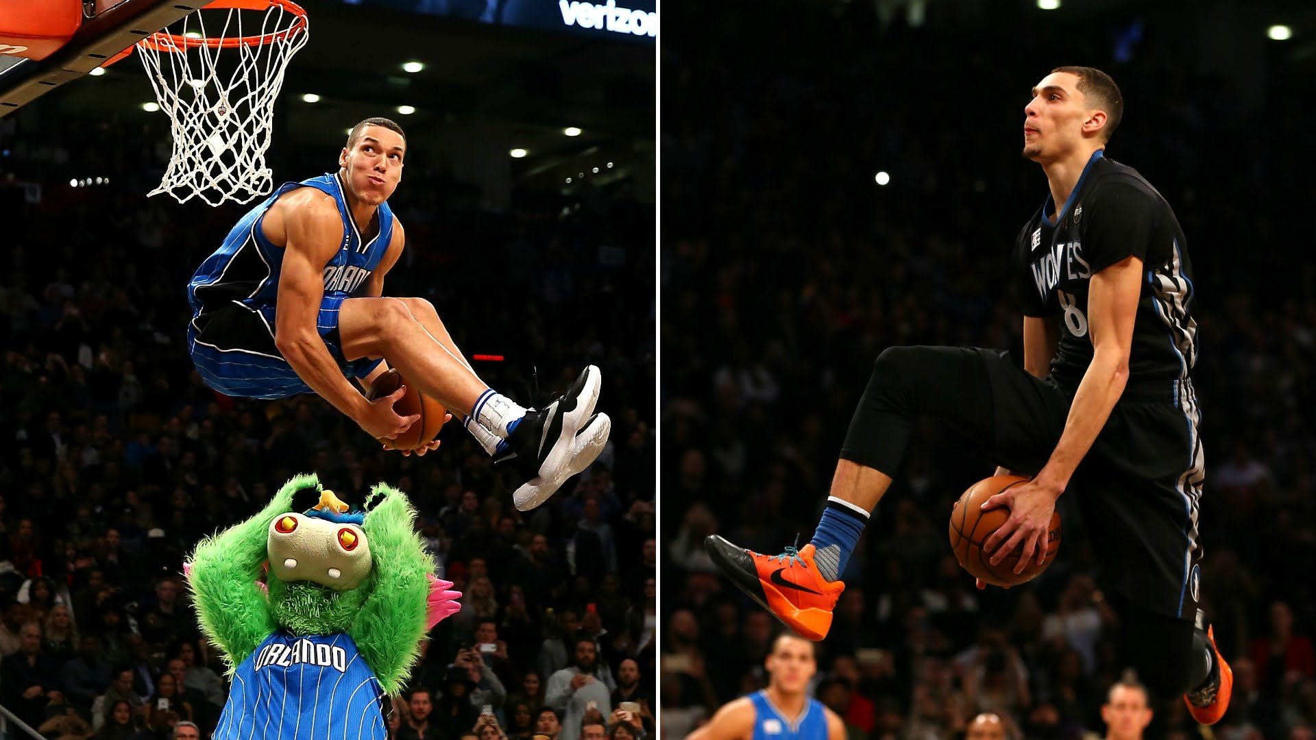 Aaron Gordon & Zach LaVine's Sick Dunks At The 2016 Slam Dunk Contest