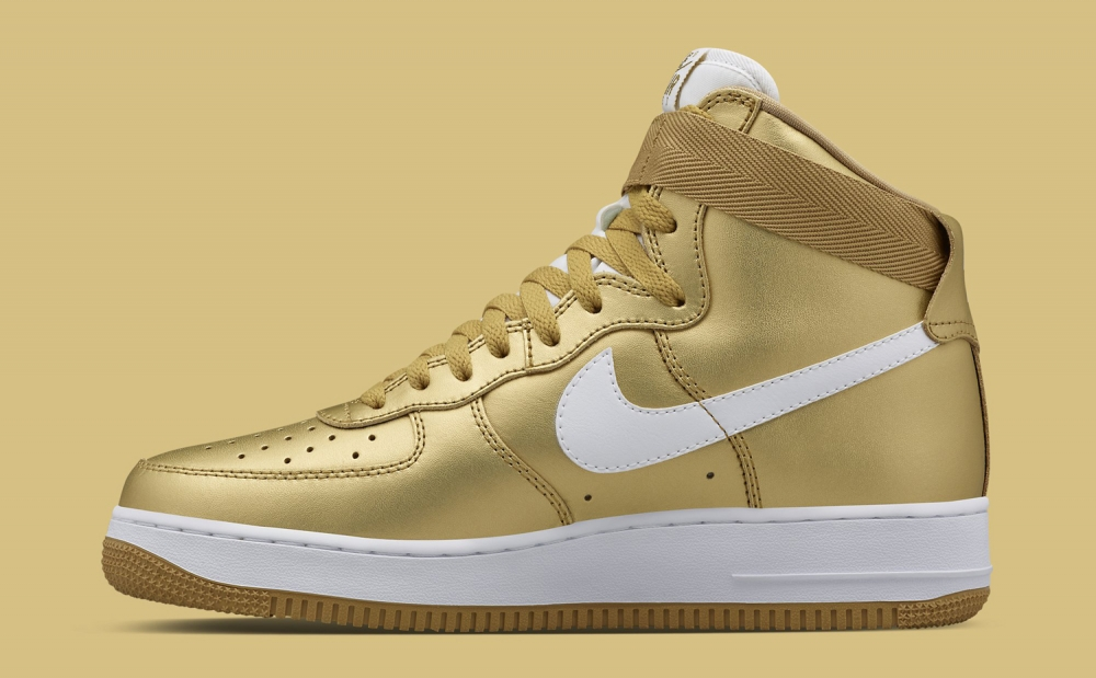 "Nike Air Force 1 High ""White / Gold"""